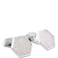 Guilloche Web Cufflinks