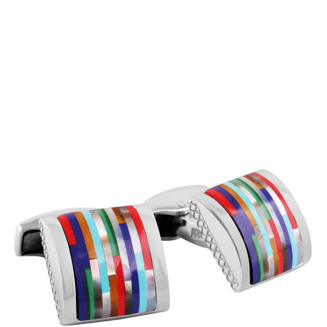 Mosaic Bamboo Cufflinks, ${color}