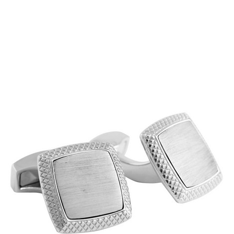 Brushed Centre Square Cufflinks, ${color}
