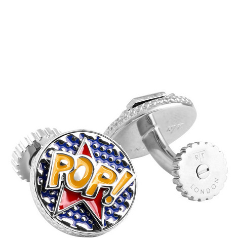 Pop And Wow Comics Cufflinks, ${color}
