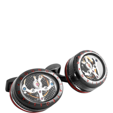 Gunmetal Panorama-Tourbillon Cufflinks, ${color}