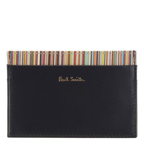 Striped Leather Cardholder, ${color}