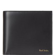 Monkey Print Leather Billfold Wallet