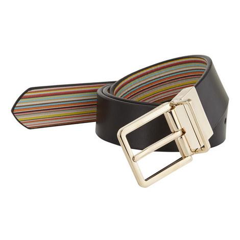 Multi-Stripe Reversible Belt, ${color}