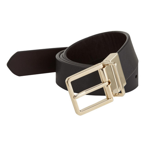 Saffiano Leather Reversible Belt, ${color}