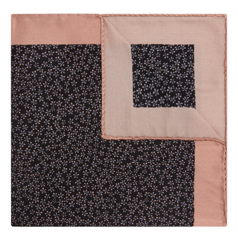 Floral Print Silk Pocket Square, ${color}