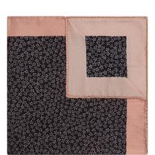 Floral Print Silk Pocket Square