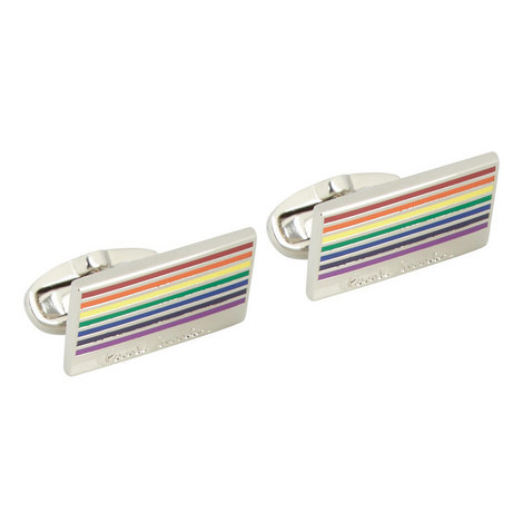 Rainbow Logo Cufflinks, ${color}