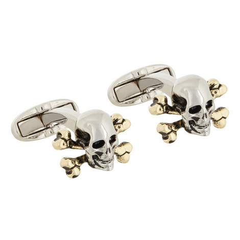 Skull Crossbone Cufflinks, ${color}