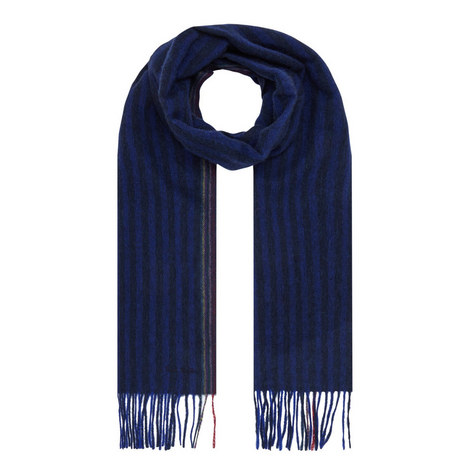 Striped Wool Scarf, ${color}