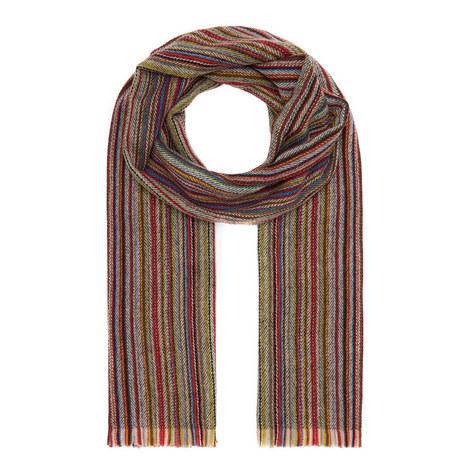 Herringbone Multi-Stripe Scarf, ${color}