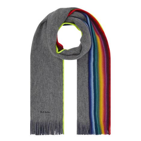 Rainbow Edge Reversible Scarf, ${color}