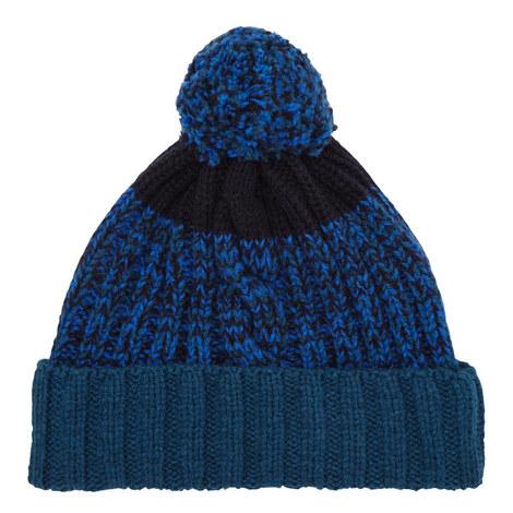 Cable Knit Bobble Beanie Hat, ${color}