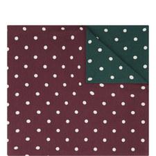 Double Polka Dot Pocket Square