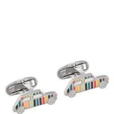 Stripe Mini Car Cufflinks