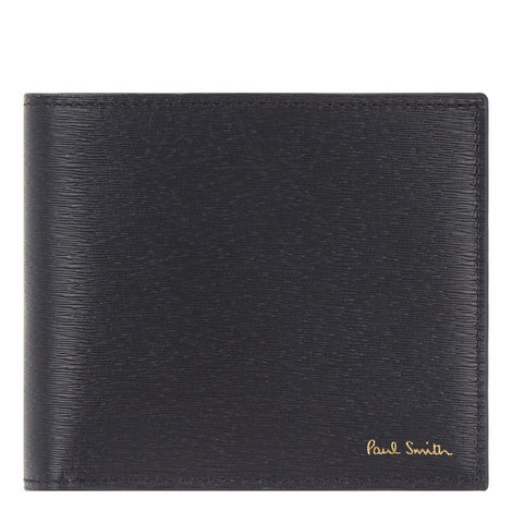 Straw Grain Leather Billfold Wallet, ${color}