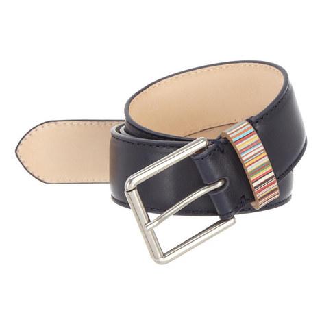 Multi-Stripe Keeper Belt, ${color}