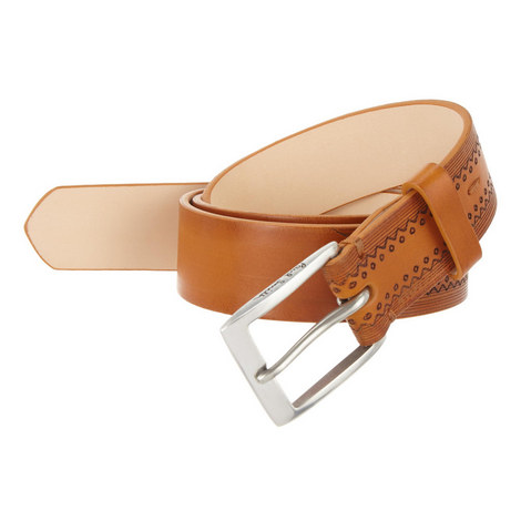 Brogue Leather Belt, ${color}