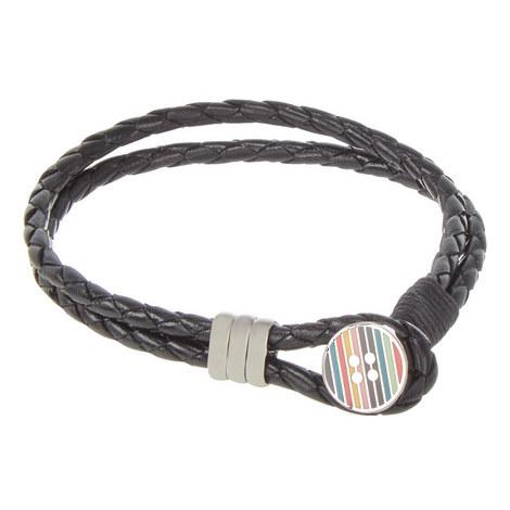 Striped Button Wrap Bracelet, ${color}