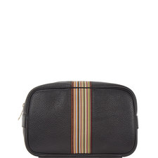 Multi-Stripe Grained Wash Bag