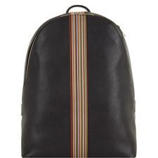 Leather Multi-Stripe Backpack