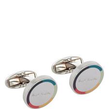 Round Coloured Trim Cufflinks