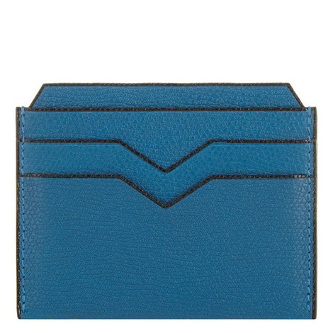 Textured Leather Card Holder, ${color}