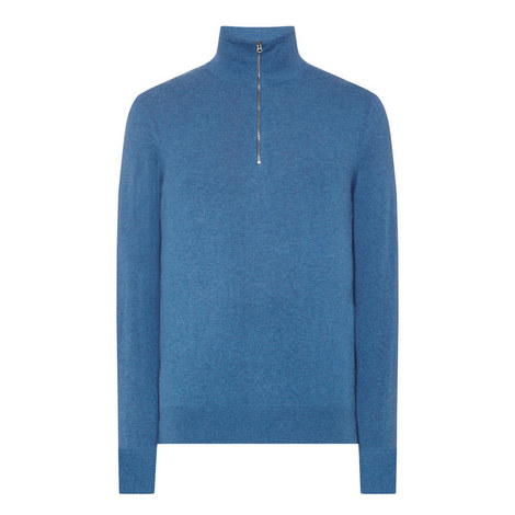 Rawlins Half-Zip Cashmere Sweater, ${color}