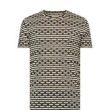 Spot Stripe Crew Neck T-Shirt