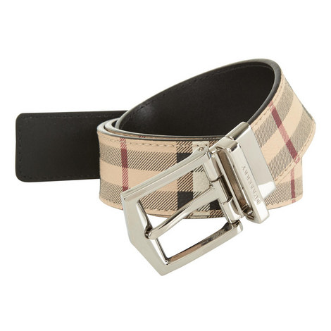 Check Leather Belt, ${color}