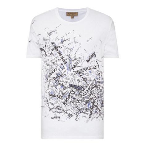 Scribble Print T-Shirt, ${color}