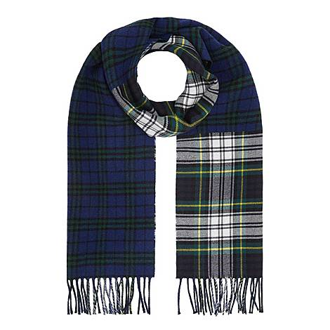 Multi Check Wool Scarf, ${color}