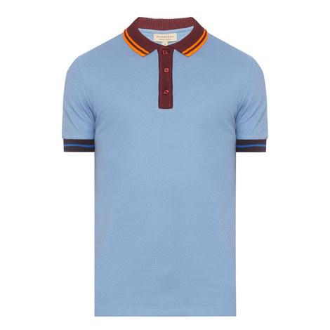 Ribbed Collar Polo Shirt, ${color}