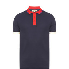 Ribbed Collar Polo Shirt