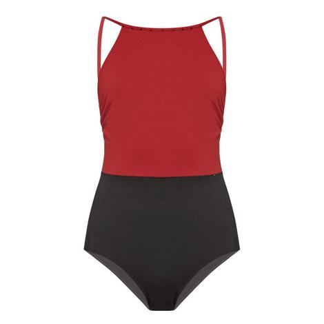 Mogol High Neck Swimsuit, ${color}