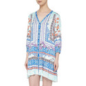 Winds of Change Printed Dress, ${color}