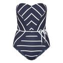 Castaway Stripe Bandeau Swimsuit, ${color}