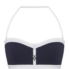 Contrast Trim Bandeau Bikini