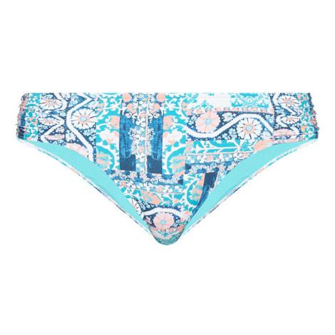 Silk Market Ruched Side Retro Bikini Bottoms, ${color}
