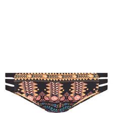 Patterned Strap Bikini Bottoms