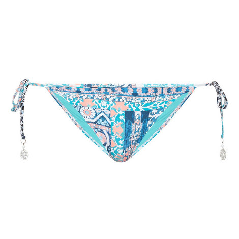 Silk Market Hipster Tie Side Bikini Bottoms, ${color}