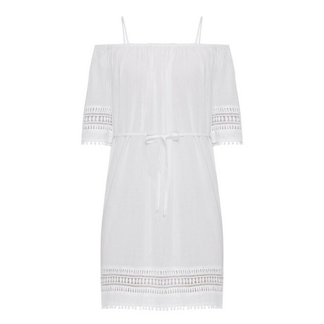 Lace Hem Smock Dress, ${color}