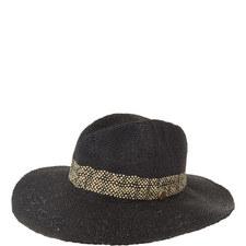 Shady Lady Stripe Fedora Hat