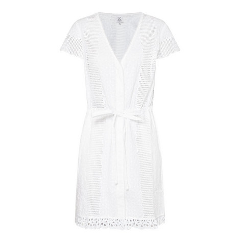 Eyelet Short Sleeve Cover-Up, ${color}