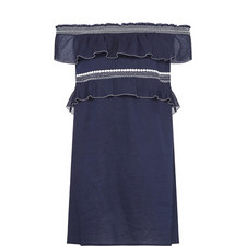 Off-The-Shoulder Tunic Dress