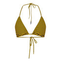 Stripe Triangle Bikini Top, ${color}