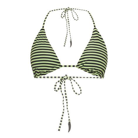 Stripe Triangle Bikini Top, ${color}