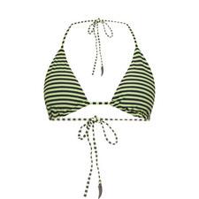 Stripe Triangle Bikini Top
