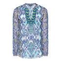 Iris Inkblot Silk Tunic, ${color}