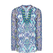 Iris Inkblot Silk Tunic